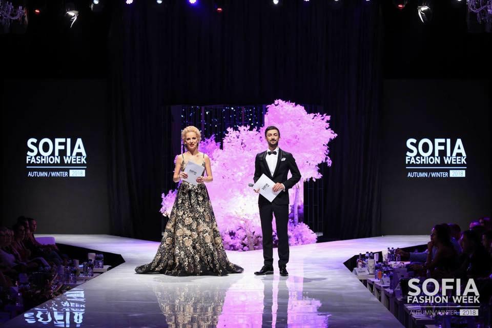 Теодор Тодоров - Тео и Боряна Баташова, водещи на Sofia Fashion Week 2019