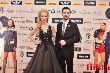 Теодор Тодоров Тео и Боряна Баташова водещи червен килим Sofia Fashion Week 2019